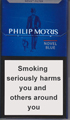 Philip Morris Novel Blue Cigarettes